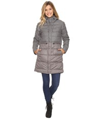 Nau Dual Down Trench Cape Heather Women's Coat Gray