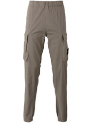 Stone Island Jogger Style Cargo Trousers Grey