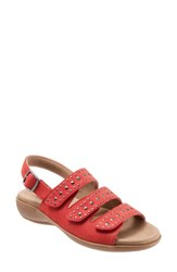 Trotters Tonya Sandal Red Multi Leather