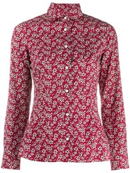 Barba Floral Fitted Shirt Red