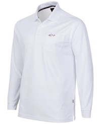 Greg Norman For Tasso Elba Big And Tall 5 Iron Long Sleeve Performance Polo Bright White