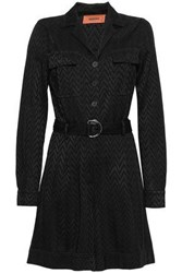 Missoni Woman Belted Crochet Knit Playsuit Black
