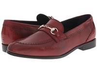 Messico Josue Red Leather Men's Dress Flat Shoes
