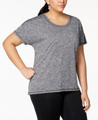 Ideology Plus Size Heathered T Shirt Created For Macy's Noir