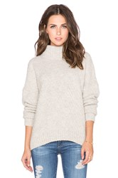 Twelfth St. By Cynthia Vincent Turtleneck Swing Sweater Light Gray