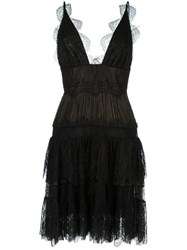 Maria Lucia Hohan Flared Lace Dress Black