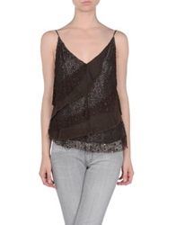 Dinou By Joaquim Jofre' Tops Dark Brown