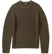 Todd Snyder Garment Dyed Merino Woo Sweater Green