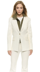 Veronica Beard Long And Lean Jacket With Dickey Natural Lace