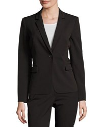 Tahari Bethany One Button Jacket Black Fig