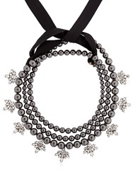 Ellen Conde Brilliant Jewelry Black Pearl Necklace