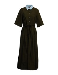 Attic And Barn Long Dresses Military Green