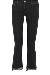 J Brand Selena Cropped Mid Rise Bootcut Jeans Charcoal