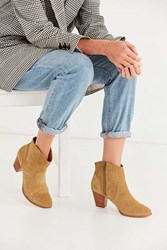 Urban Outfitters Westie Suede Ankle Boot Taupe