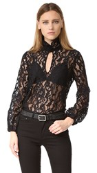 Cynthia Rowley Lace Top Black