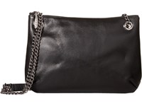 Sarah Jessica Parker Chain Strap Crossbody Black Leather Cross Body Handbags