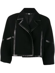 Karl Lagerfeld Faux Leather Trimmed Jacket 60
