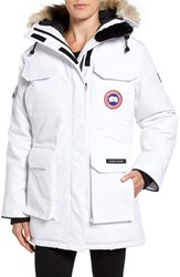 Canada Goose Women's 'Expedition' Relaxed Fit Down Parka With Genuine Coyote Fur White
