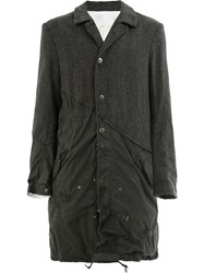 Greg Lauren Herringbone Fishtail Parka Artist Coats Grey