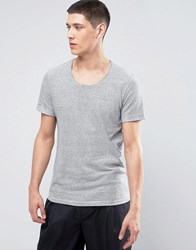 Casual Friday Linen Mix T Shirt In Stripe 50104 Bright White