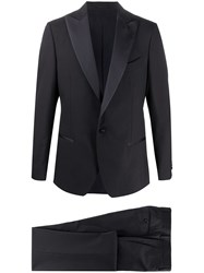 Dell'oglio Single Breasted Two Piece Dinner Suit Blue
