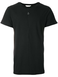 Alyx Crew Neck T Shirt With Zipper Detail Black