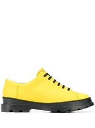 Camper Brutus Lace Up Shoes Yellow