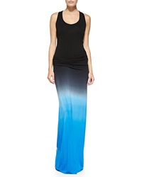 Young Fabulous And Broke Young Fabulous And Broke Hamptons Ombre Slub Maxi Dress Black Blue Ombre