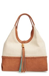 Big Buddha Faux Leather Tassel Hobo Bag