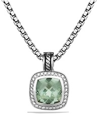 David Yurman Albion Pendant With Prasiolite And Diamonds Silver