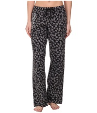 Life Is Good Sleep Pants Night Black Floral Women's Pajama