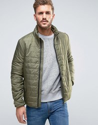 Only And Sons Lightweight Quilted Jacket Green