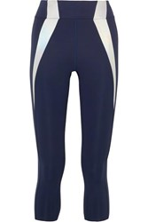 Heroine Sport Frame Reflective Paneled Stretch Leggings Navy
