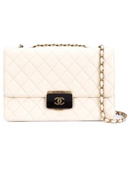 Chanel Vintage Quilted Shoulder Bag Nude And Neutrals