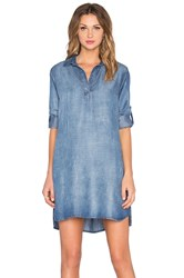 Bella Dahl A Line Shirt Dress Gray