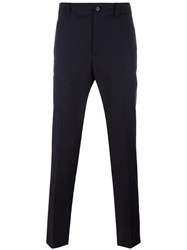 Maison Martin Margiela Ankle Length Tailored Trousers Blue
