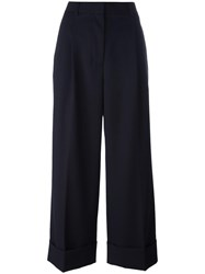 3.1 Phillip Lim Cropped Wide Leg Trousers Blue