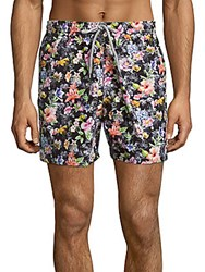 Saks Fifth Avenue Floral Print Swim Trunks Multicolor