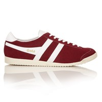 Gola Bullet Suede Lace Up Trainers Red
