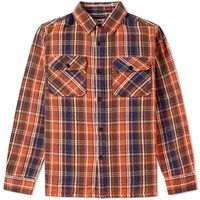 Undefeated Plaid Flannel Shirt Red