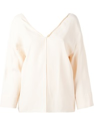 Forte Forte V Neck Blouse Nude And Neutrals