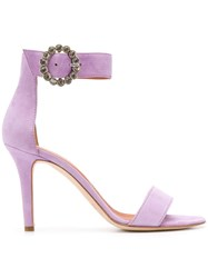 Via Roma 15 Ankle Strap Sandals Purple