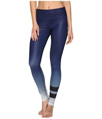 Alo Yoga Airbrushed Legging Rich Navy Gradient Women's Workout Blue
