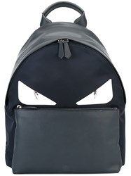 Fendi Bag Bugs Backpack Blue