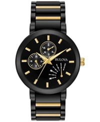 Bulova Men's Dress Two Tone Stainless Steel Bracelet Watch 45Mm 98C124 No Color
