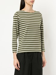 Margaret Howell Striped Top Green
