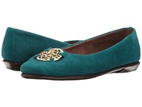Aerosoles Exhibet Blue Green Suede Women's Shoes