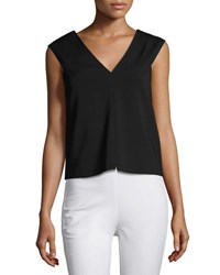 Rag And Bone Alma V Neck Sleeveless Shell Black