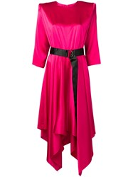 Federica Tosi Belted Midi Dress Pink