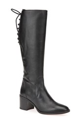 Geox Women's Glynna Knee High Boot Black Leather